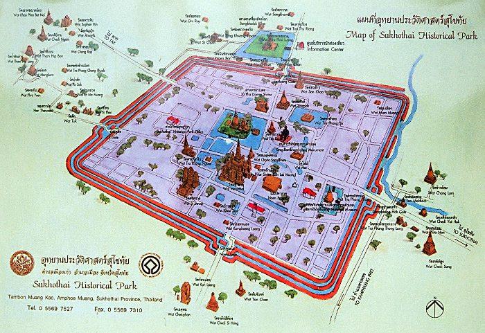 Carte Thailande Sukhothai.Parc Historique De Sukhothai Dans La Province De Sukhothai